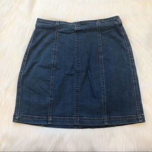 Kendall and Kylie Denim Jean Skirt Hem Stripe